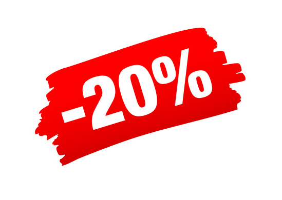 Sconto del 20% sul carrello